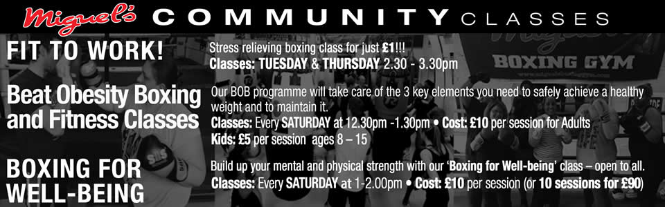 Community boxing class south london