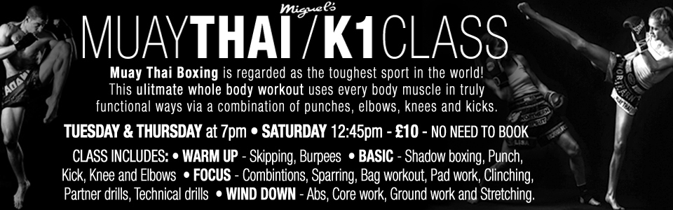 Miguel's muay thai / K1 class in London