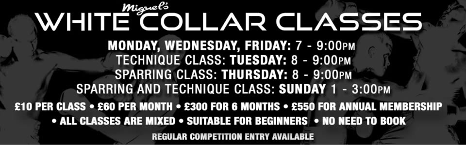 miguels white collar boxing classes south london
