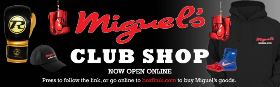 Miguel's boxing gym club shop