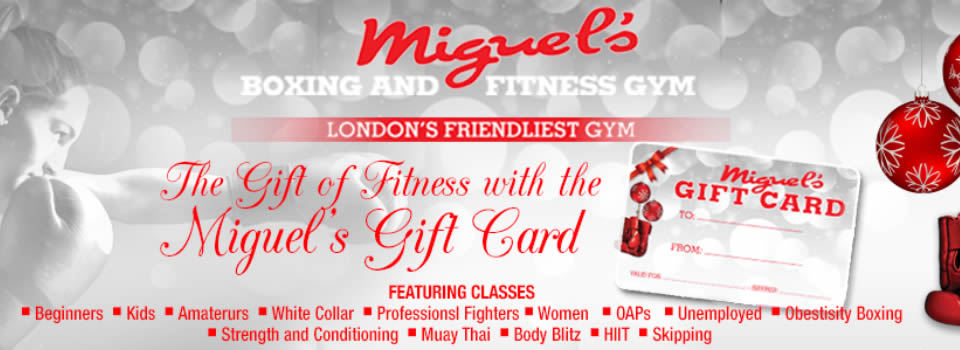 Miguels boxing gym gift card