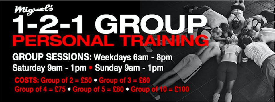 miguels boxing gym london 1-2-1 group personal training