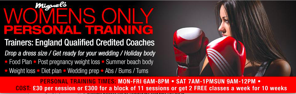 miguels boxing gym london womens only personal training